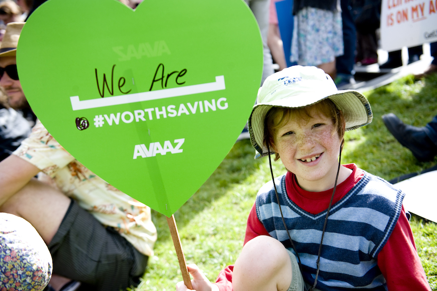 Child in Melbourne at People's Climate March September 21, 2014