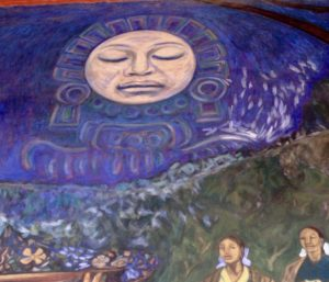 mothers under moon, Alfredo Zalce mural